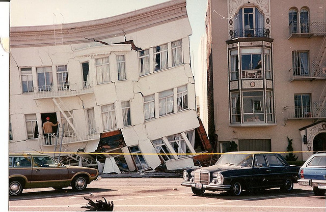 1989 Loma Prieta earthquake. I was in a movie theater in San Francisco with my mother. The movie was  Uncle Buck . Image   CC   Eve Fraser-Corp.
