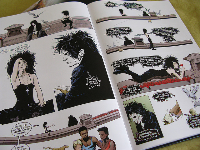 The Sandman   series by Neil Gaiman. Image CC  Steel Wool.
