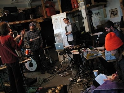Rehearsing with SO PERCUSSION