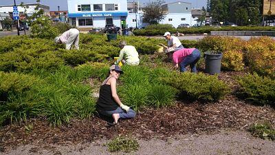 Volunteering and dancing at Harbor Park in Grand Marais