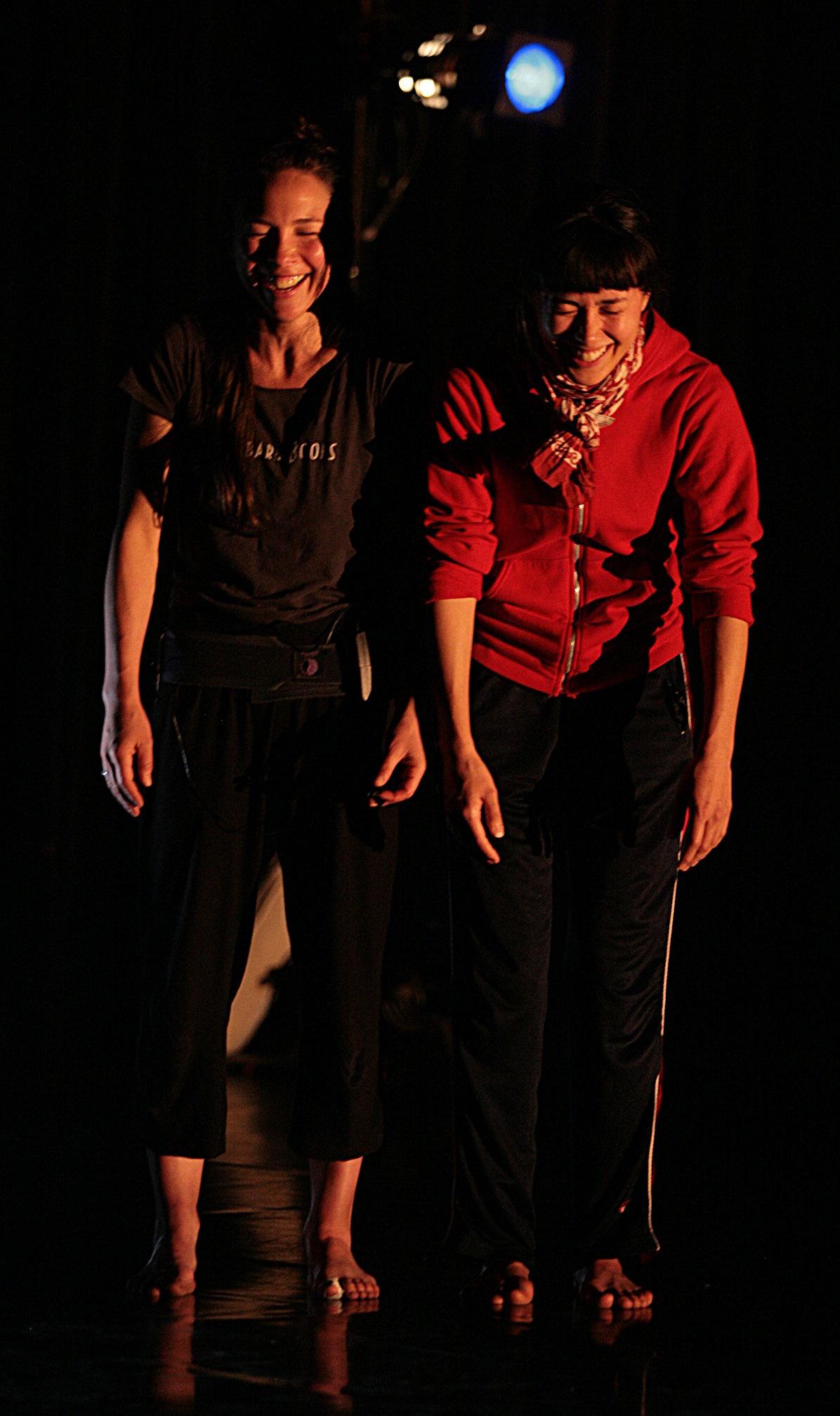 Niicugni  rehearsals. Emily and Aretha. Photos by Al Hall and Chris Cameron.