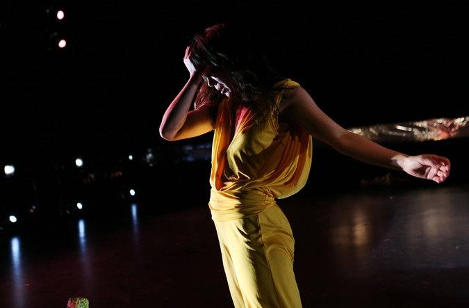 """The choreographer Emily Johnson brought her multipart project, """"Shore,"""" to New York Live Arts.     Credit Julieta Cervantes for The New York Times"""