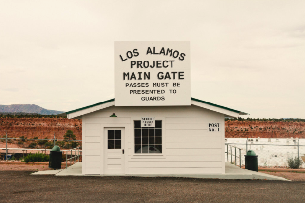 The town of Los Alamos recreated the laboratory's original main gate in 2016.                Christopher Thompson for The New York Times