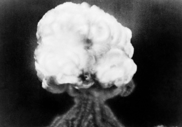 The mushroom cloud of the first atomic explosion at the Trinity test site in New Mexico. Associated Press