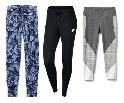 Aerie Chill Jogger  /  Nike Workout Pants  /  gFast Performance Colorblock Leggings