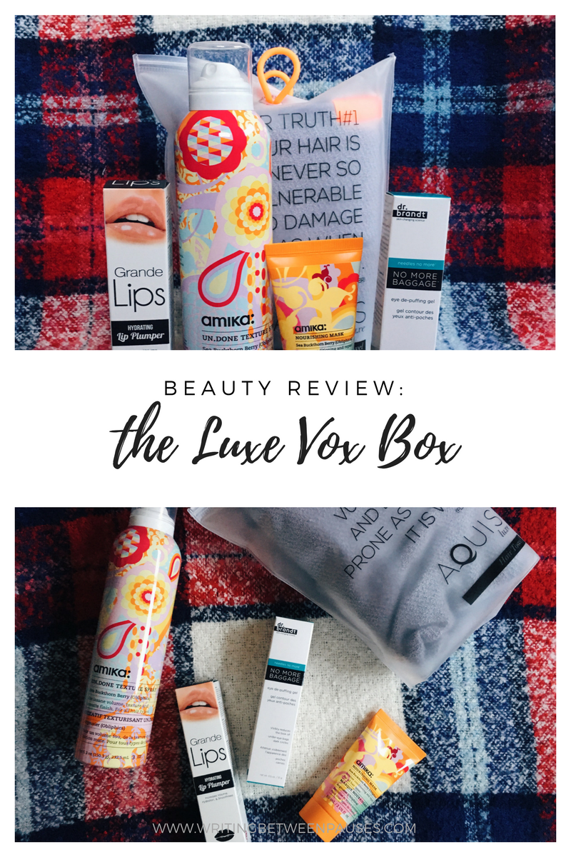 Beauty Review: Luxe Vox Box | Writing BetweenPauses