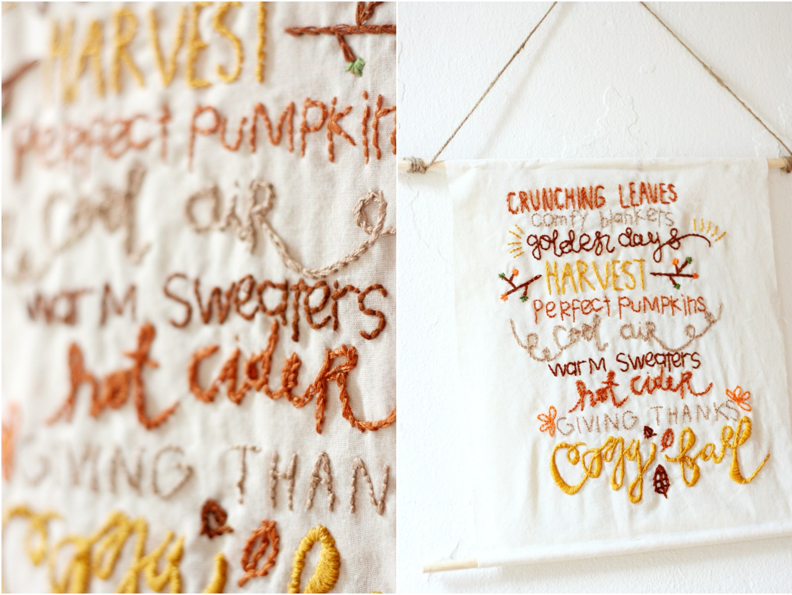 Autumn Embroidery DIY | Writing Between Pauses