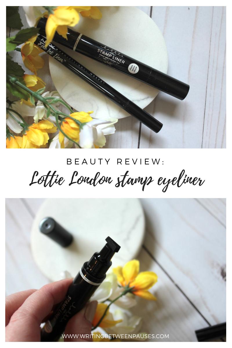 Beauty Review: Lottie London eyeliner stamp | Writing Between Pauses
