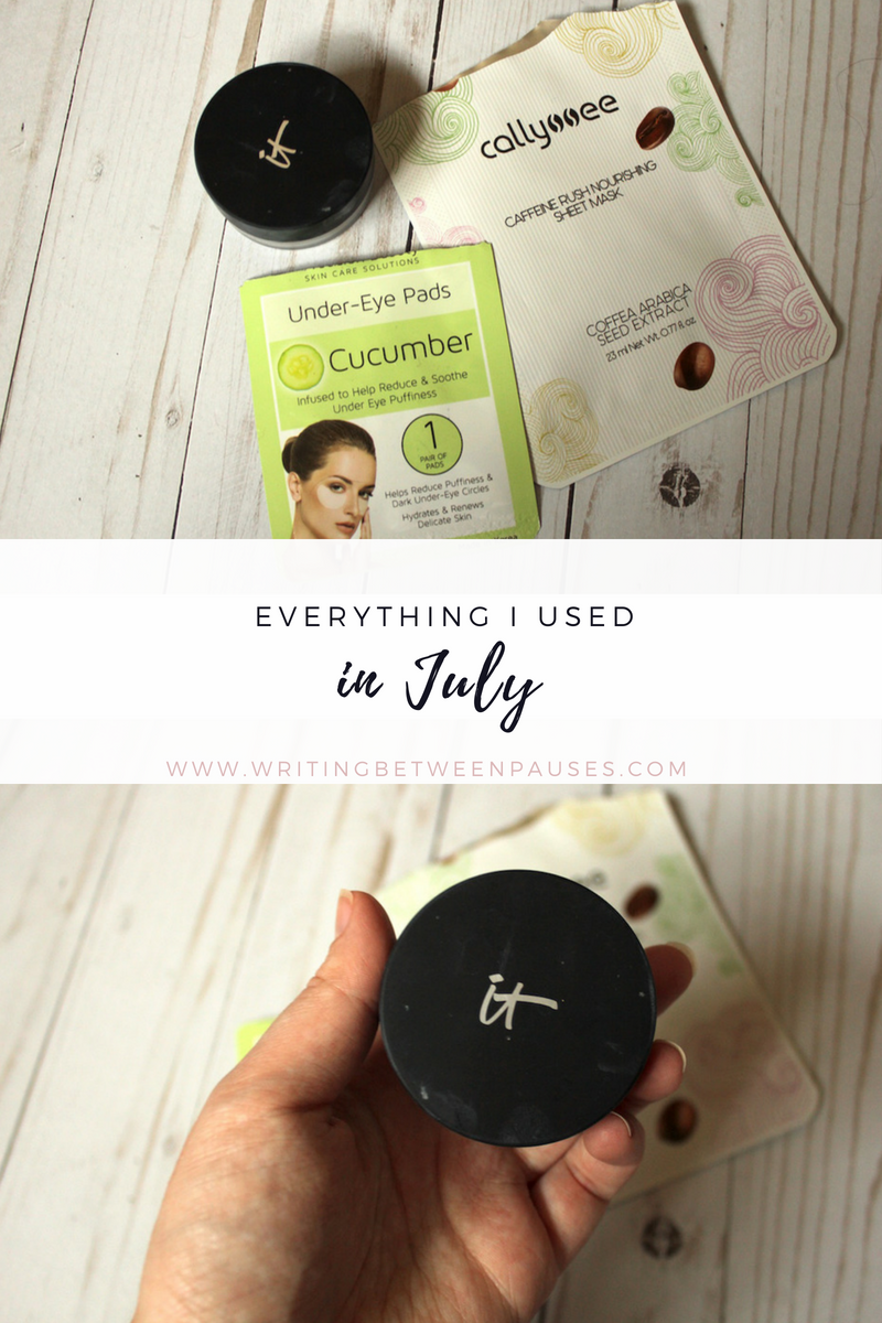 Everything I Used in July | Writing Between Pauses