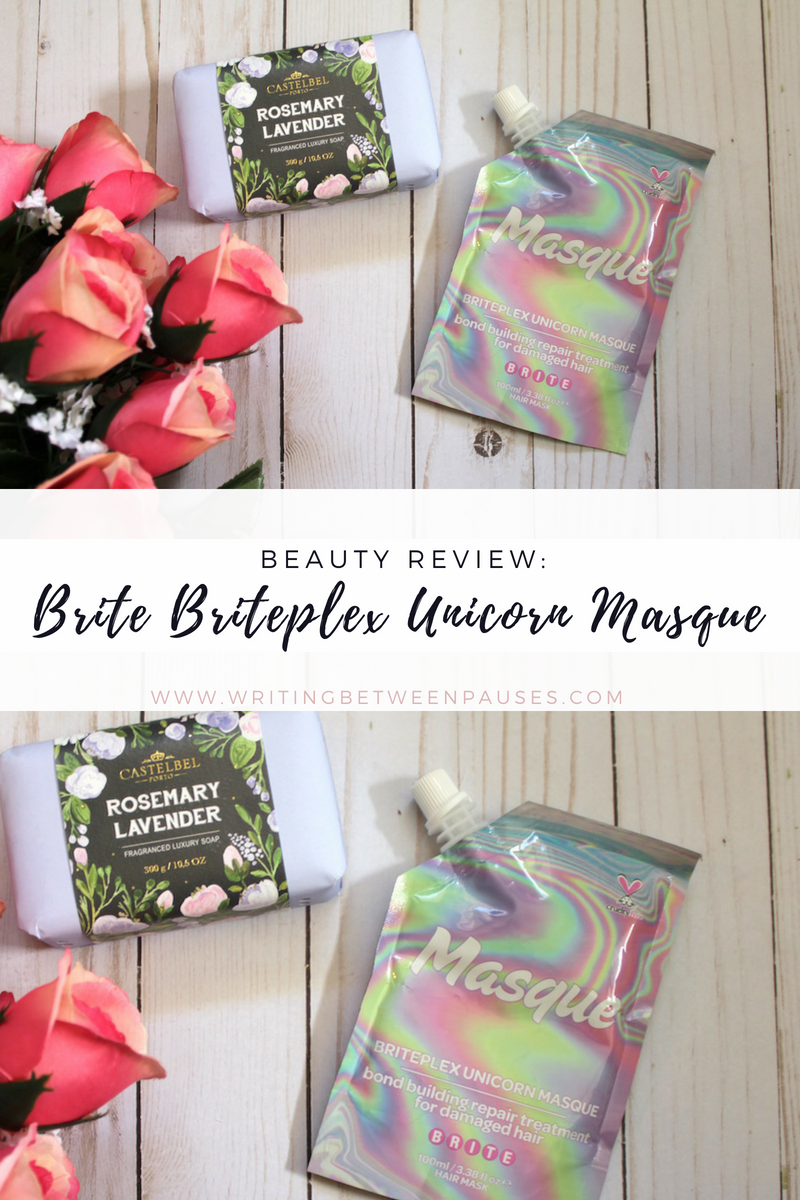 Beauty Review: Brite Briteplex Unicorn Masque | Writing Between Pauses