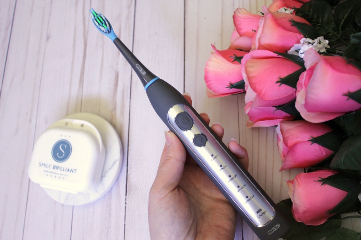the cariPRO electric toothbrush from Smile Brilliant*