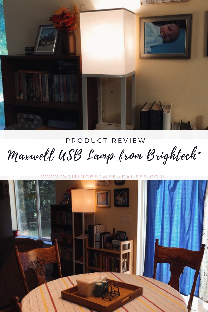 Product Review: Maxwell USB Floor Lamp from Brightech* | Writing Between Pauses