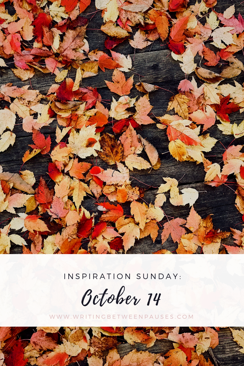 Inspiration Sunday: October 14 | Writing Between Pauses
