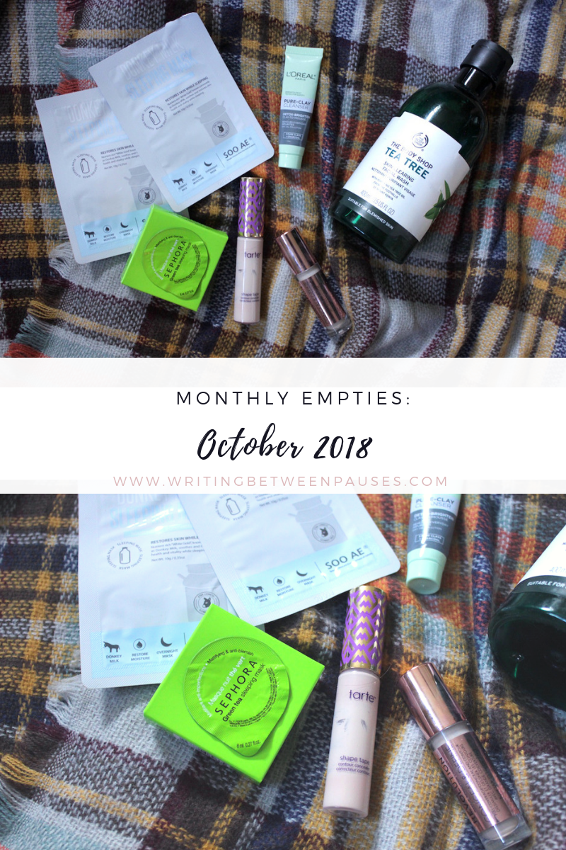 Monthly Empties: October 2018 | Writing Between Pauses