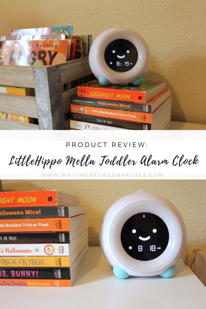 Product Review: LittleHippo Mella Toddler Alarm Clock | Writing Between Pauses