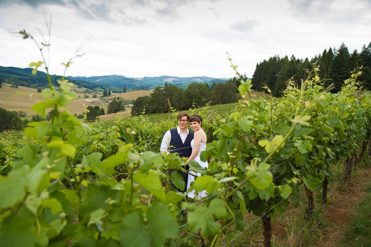 Sweet Cheeks Winery Eugene Oregon Wedding