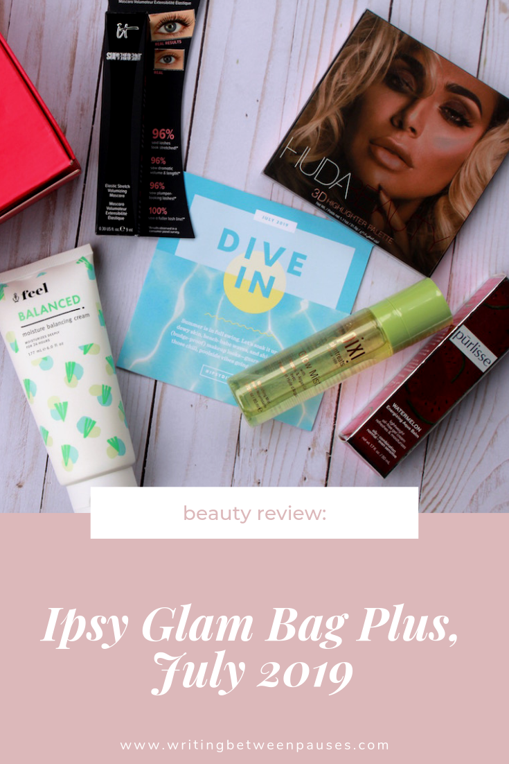 Beauty Review: Ipsy Glam Bag Plus, July 2019