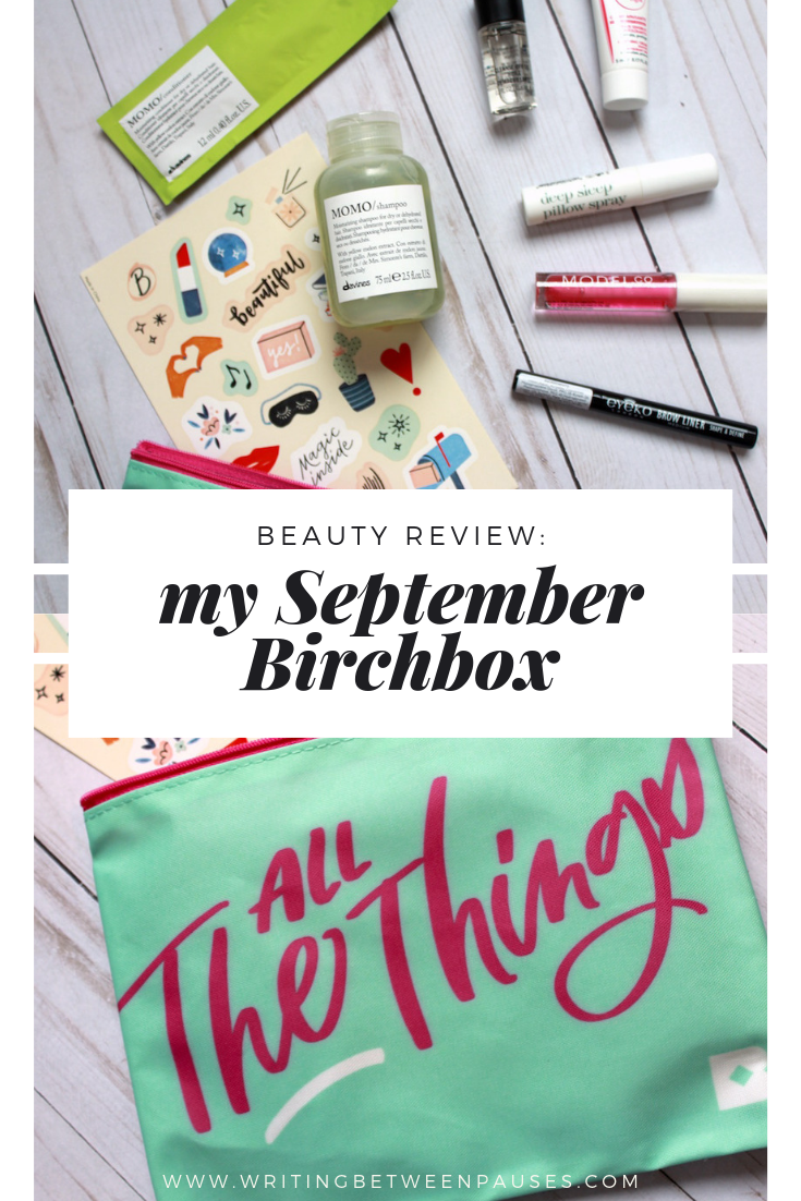 Beauty Review: My September 2019 Birchbox | Writing Between Pauses