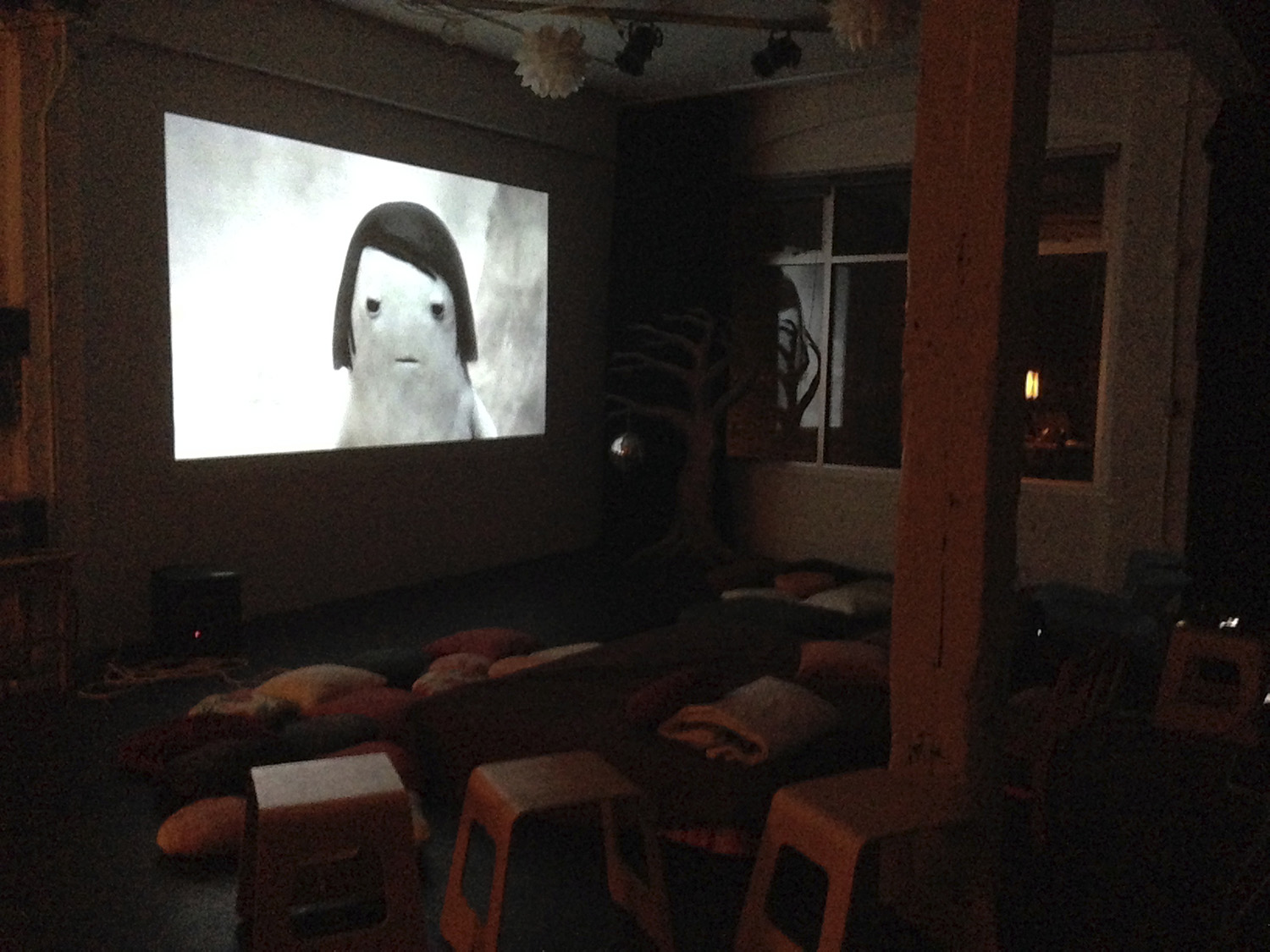 Testing projection with Kirsten Lepore's 'Move Mountain'.