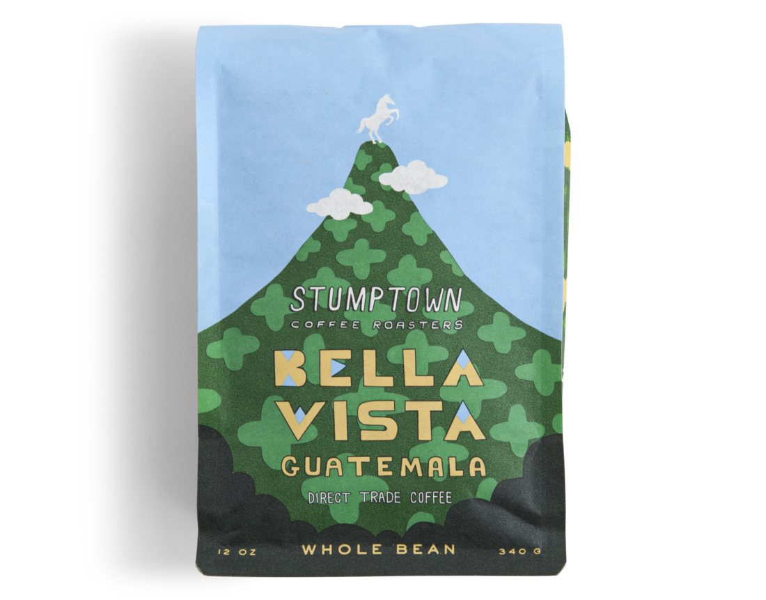 Stumptown bella vista coffee packaging design -