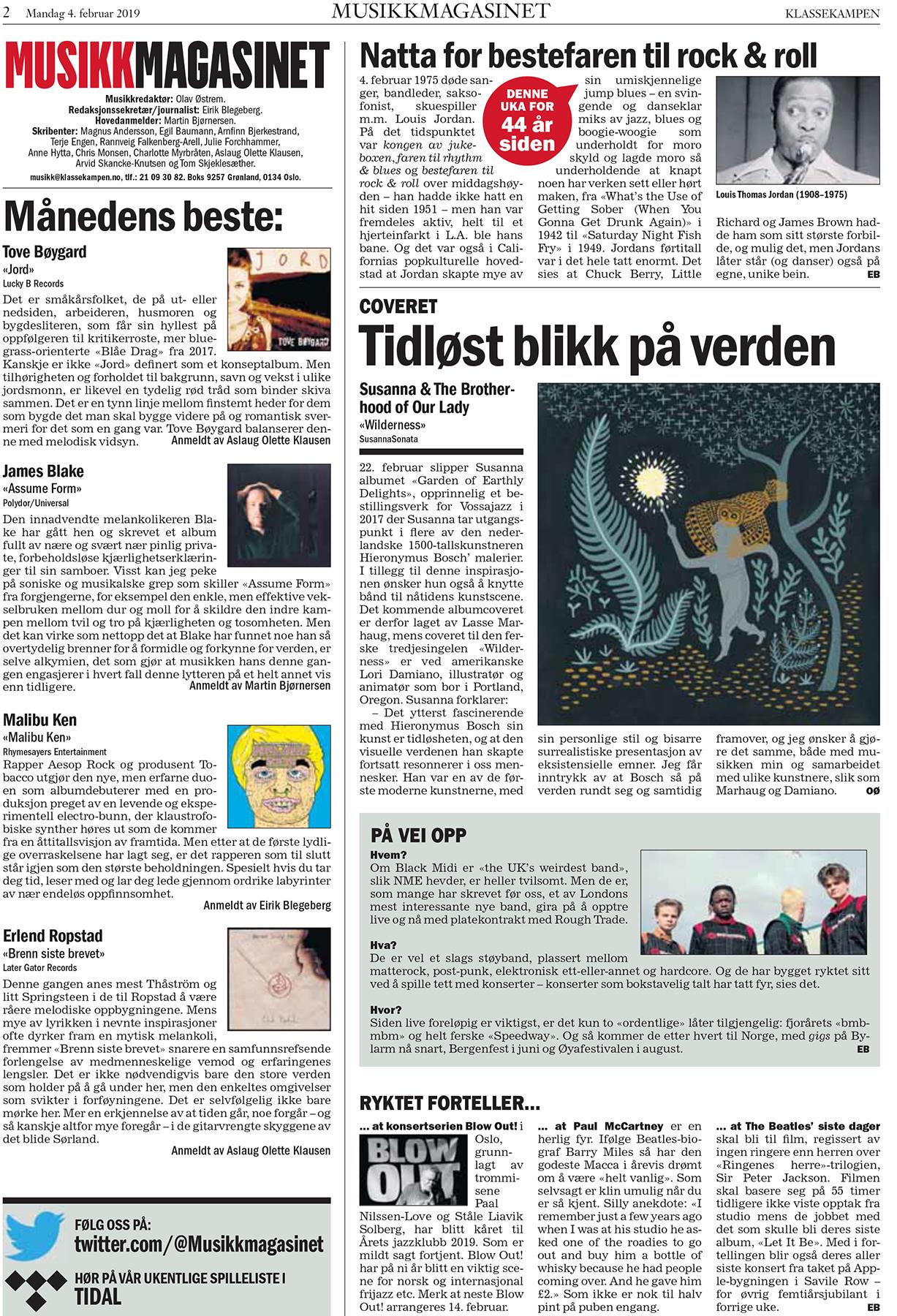 COVER WILDERNESS Musikkmagasinet Klassekampen februar 2019.png