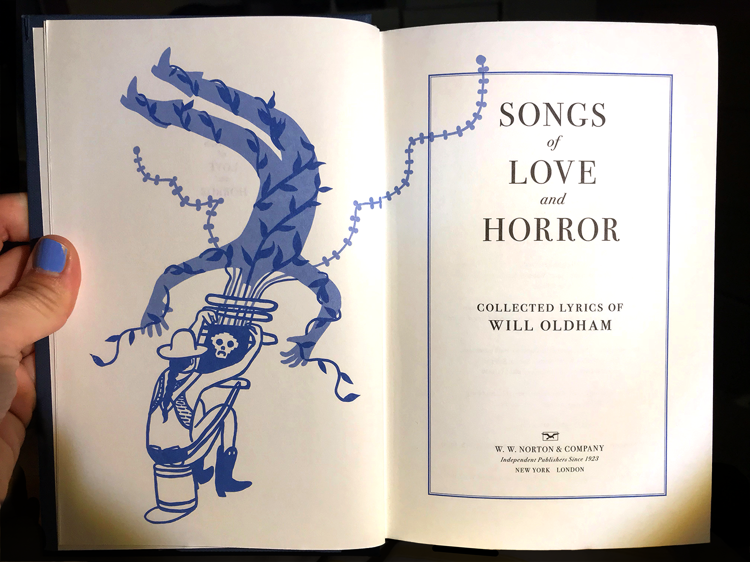 """Will Oldham """"Songs of Love & Horror"""" Frontispiece"""