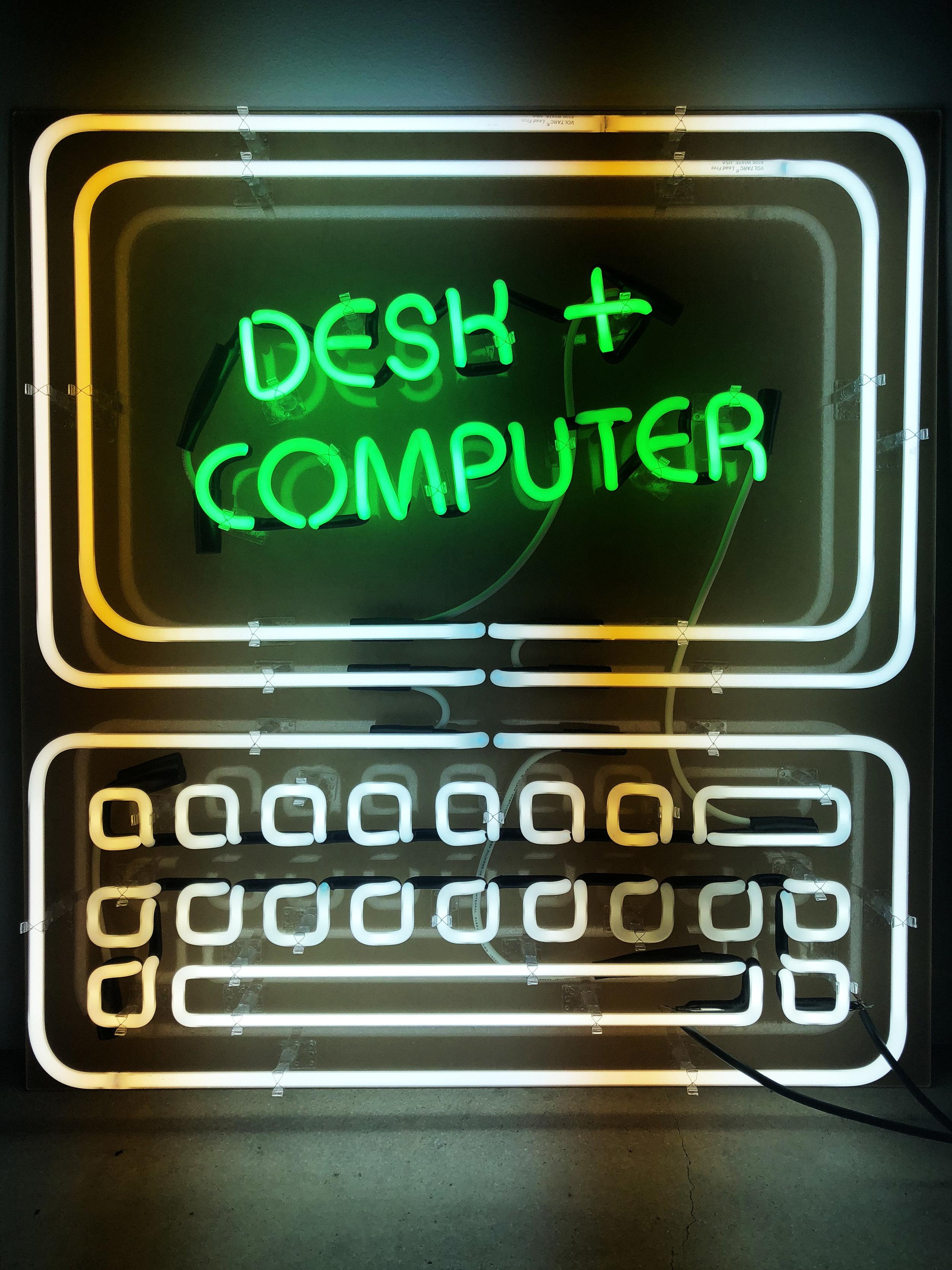 Desk + Computer Logo Design