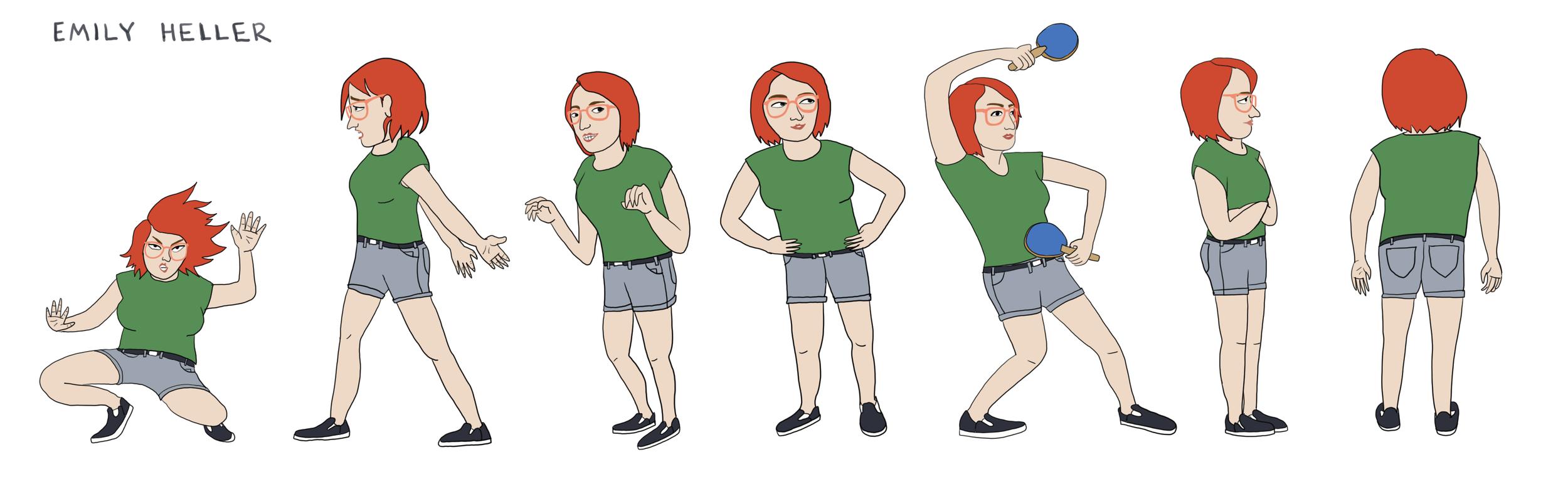 Emily Heller Character Design