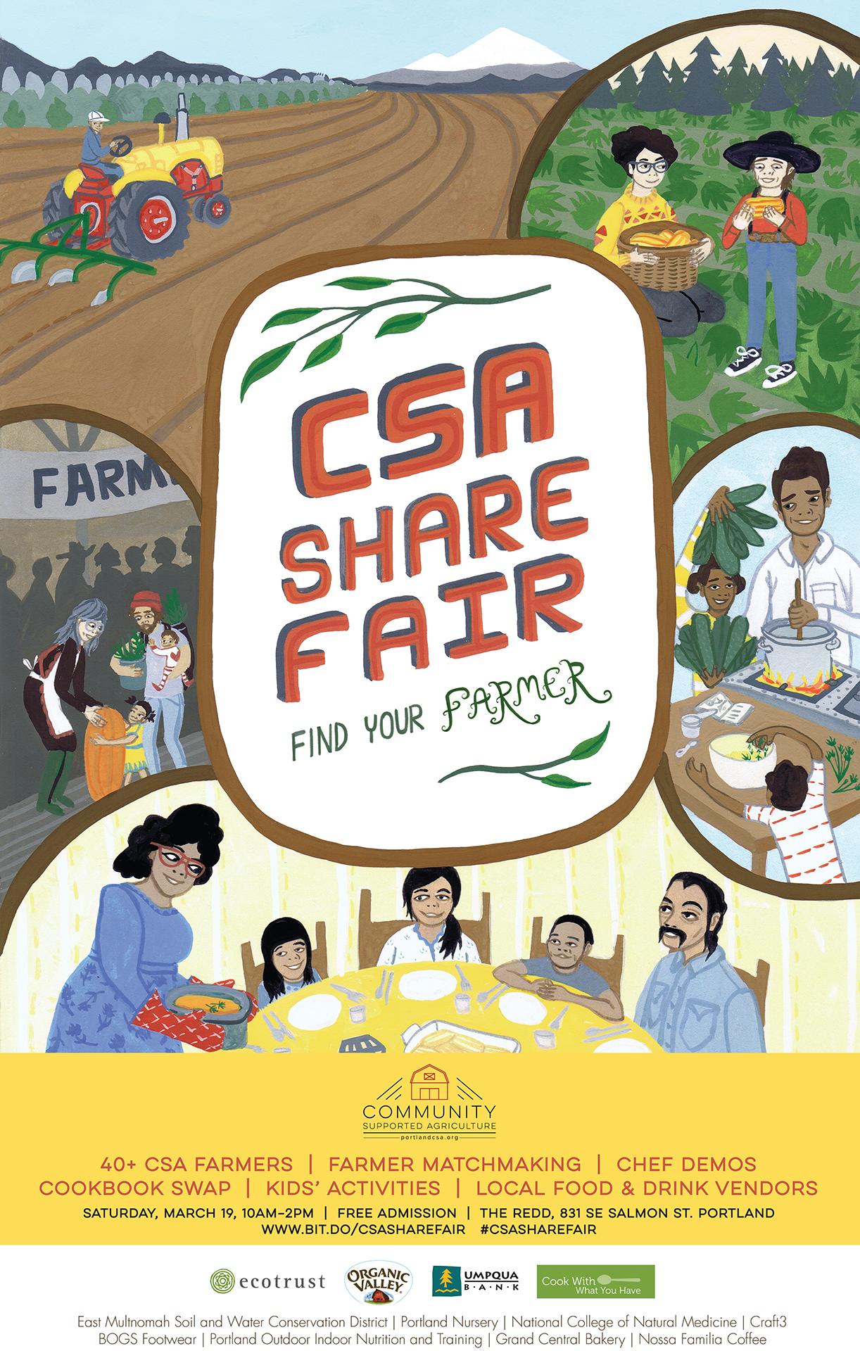 CSA Share Fair Poster 2016