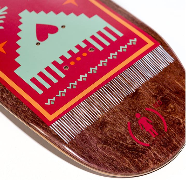 rick McCrank GIRL x (RED) Board Graphic - for Girl Skateboard Company / (Red)