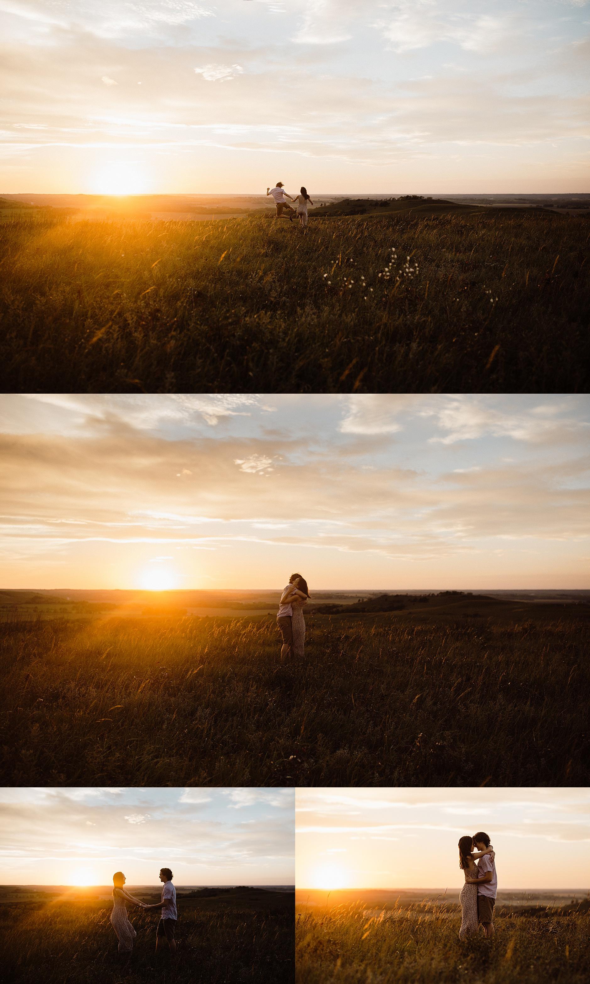 Colorado Sunset Engagement Photos