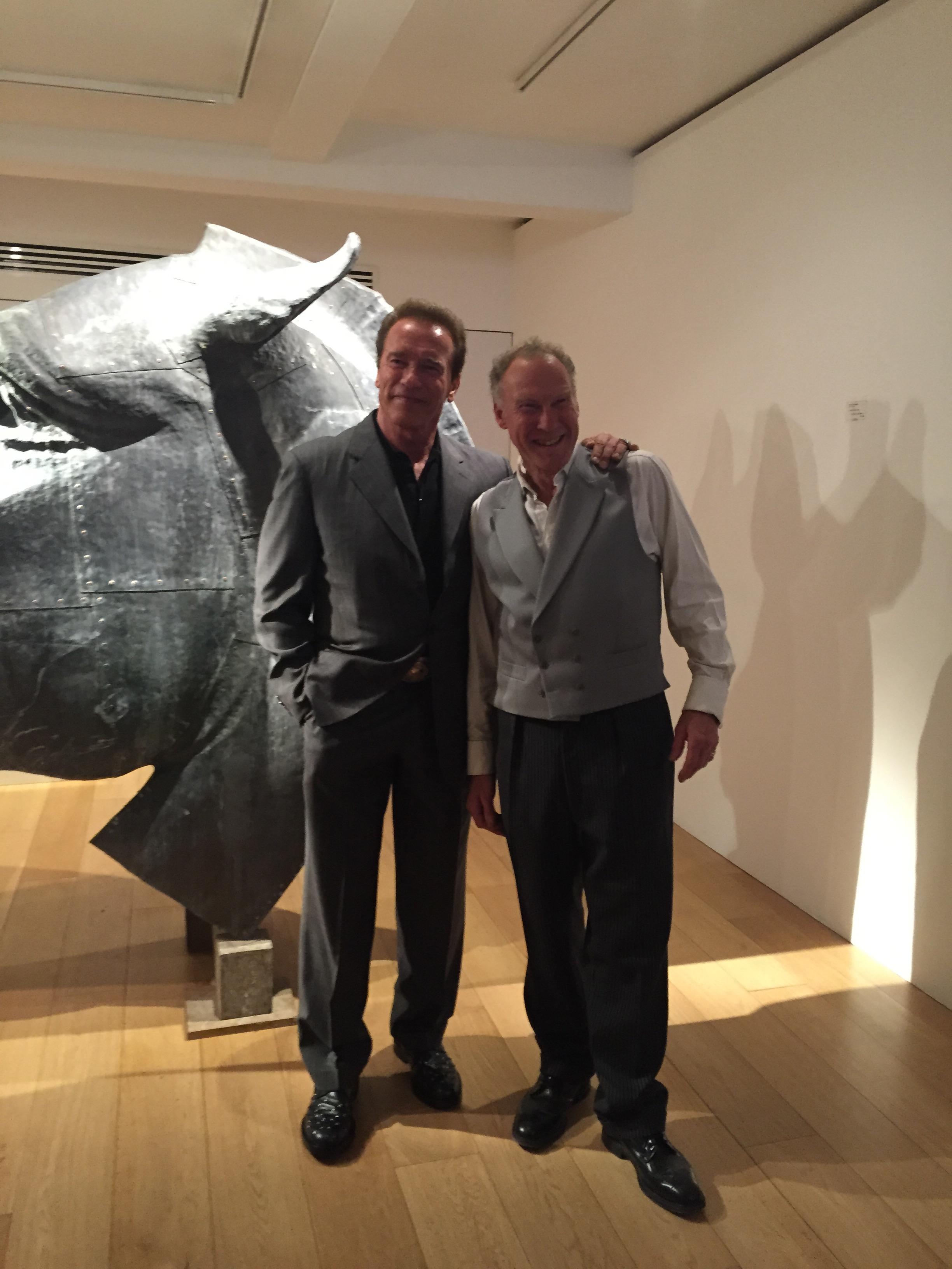 Nic with collector, Arnold Schwarzenegger