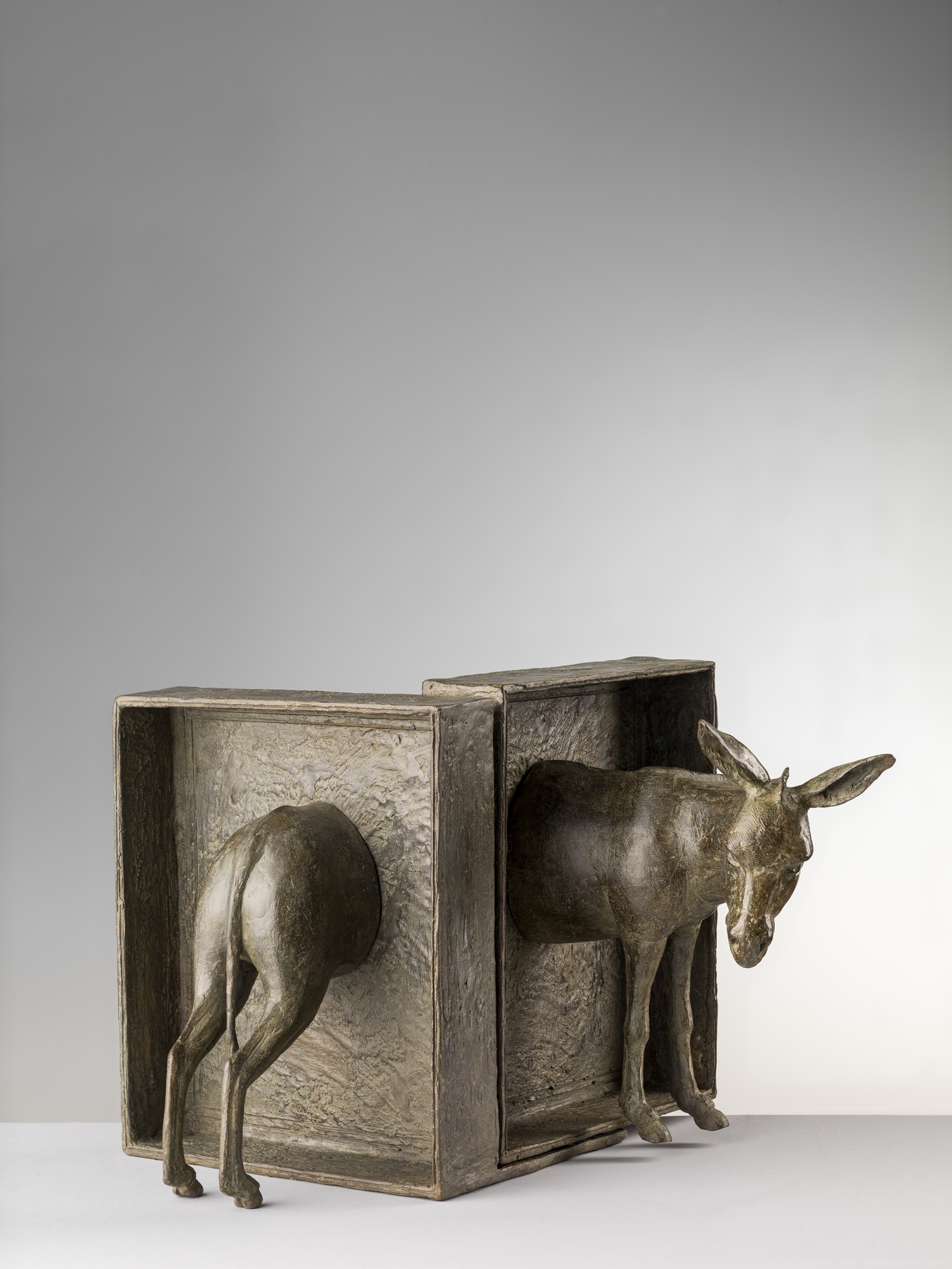 5.1 Sleeping Donkey (After Jacques Prevert), 'L'Asino Dormiente (Dopo Jacques Prevert)' by Nicola Lazzari 20cm H x 20cm W x 17cm D.jpg