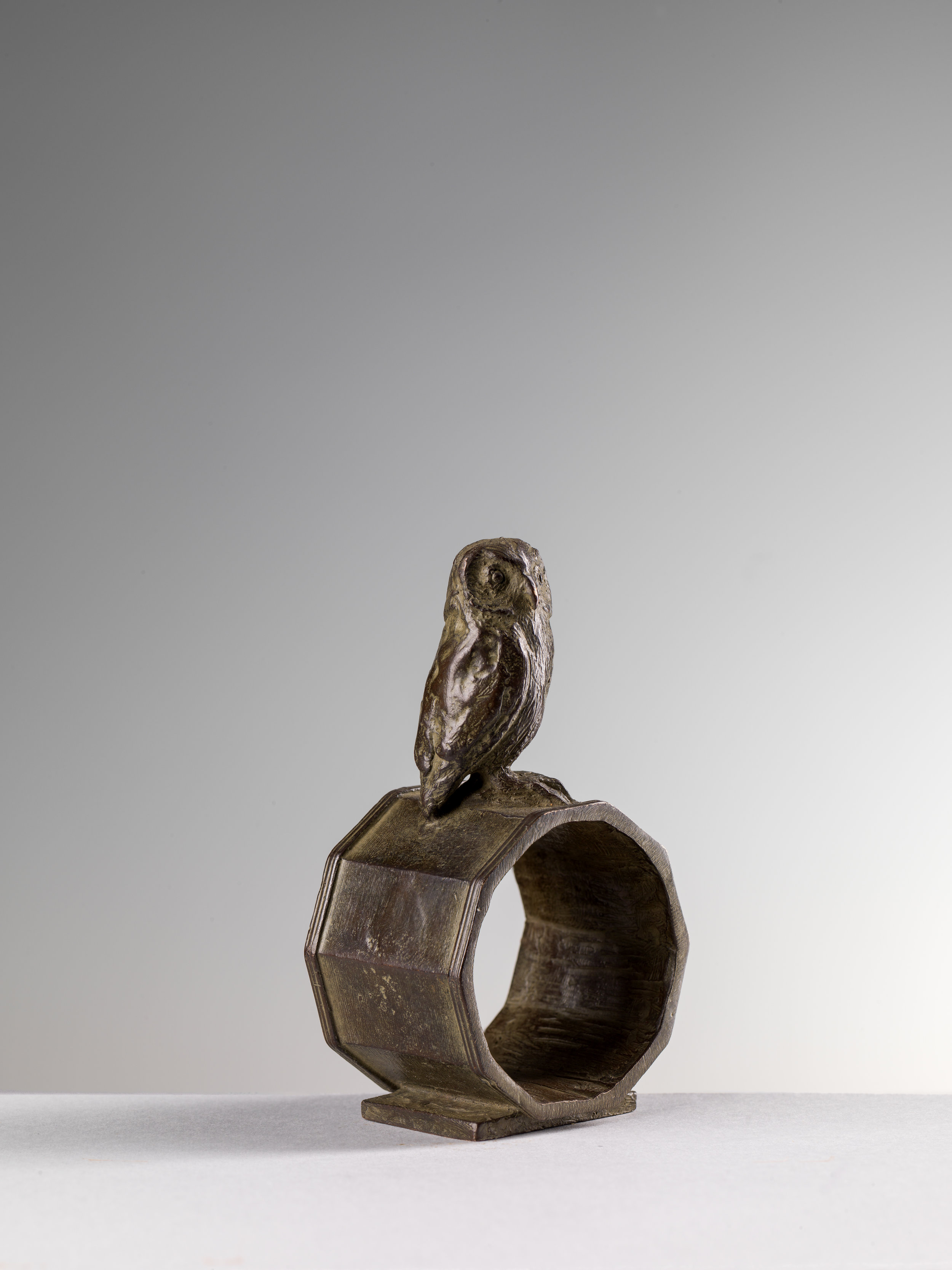 19. Owl Napkin Ring, 'Gufo' by Nicola Lazzari 10cm H x 5cm W x 4cm D.jpg