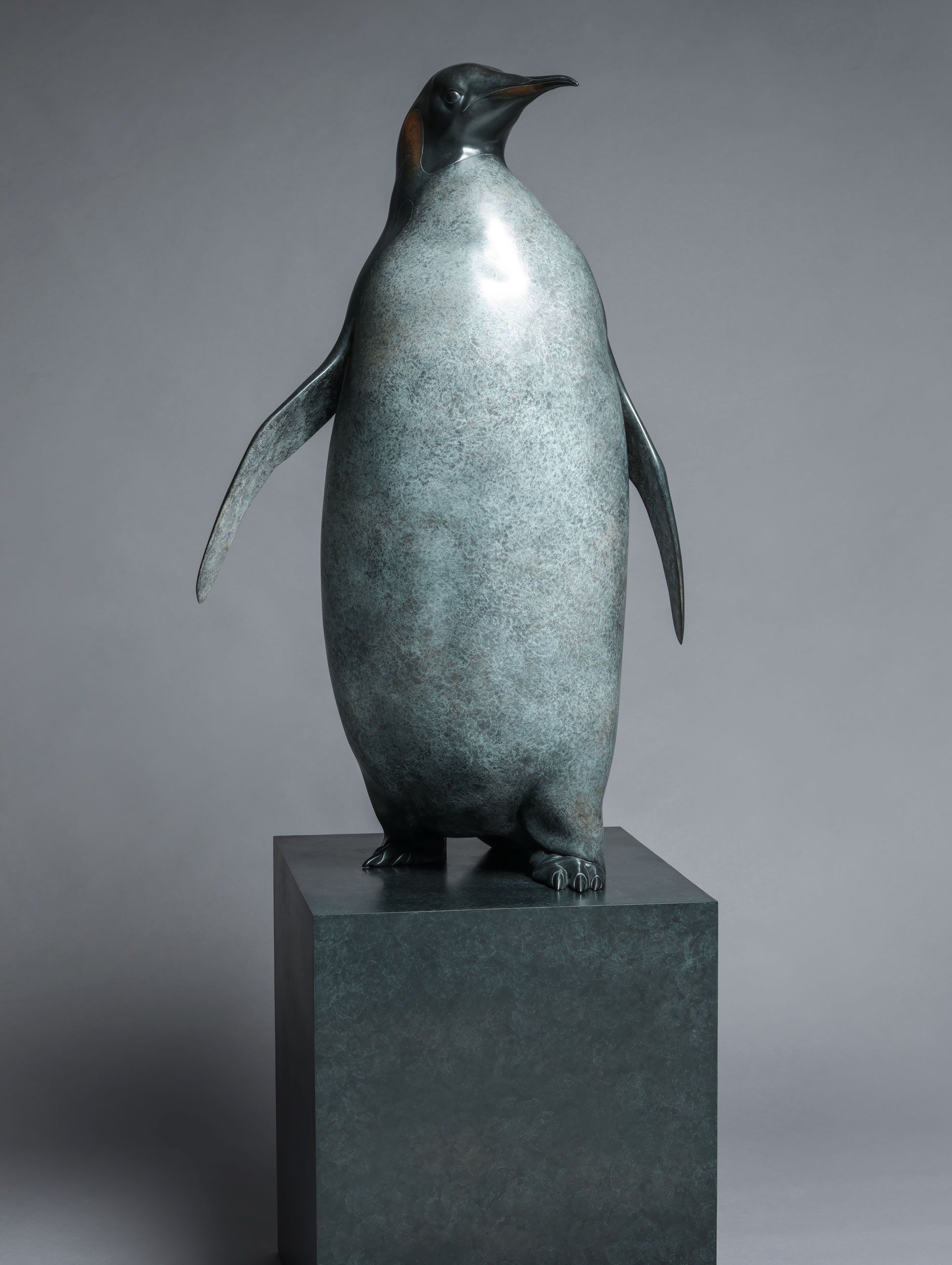 15. Emperor Penguin by Nick Bibby, Edition of 12, 75 x 24 x 24 inches (191 x 61 x 61cm).jpg