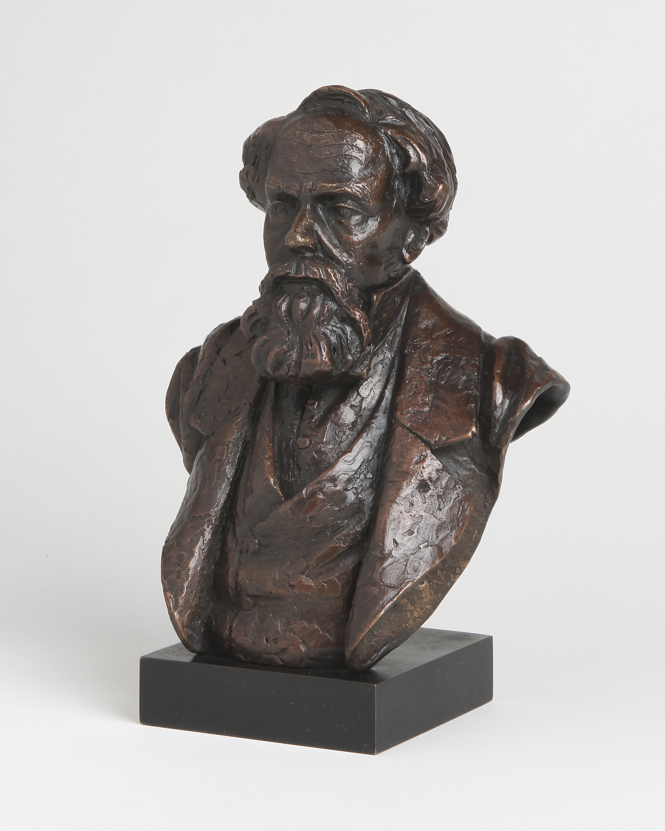 38. Charles Dickens bust from maquette.