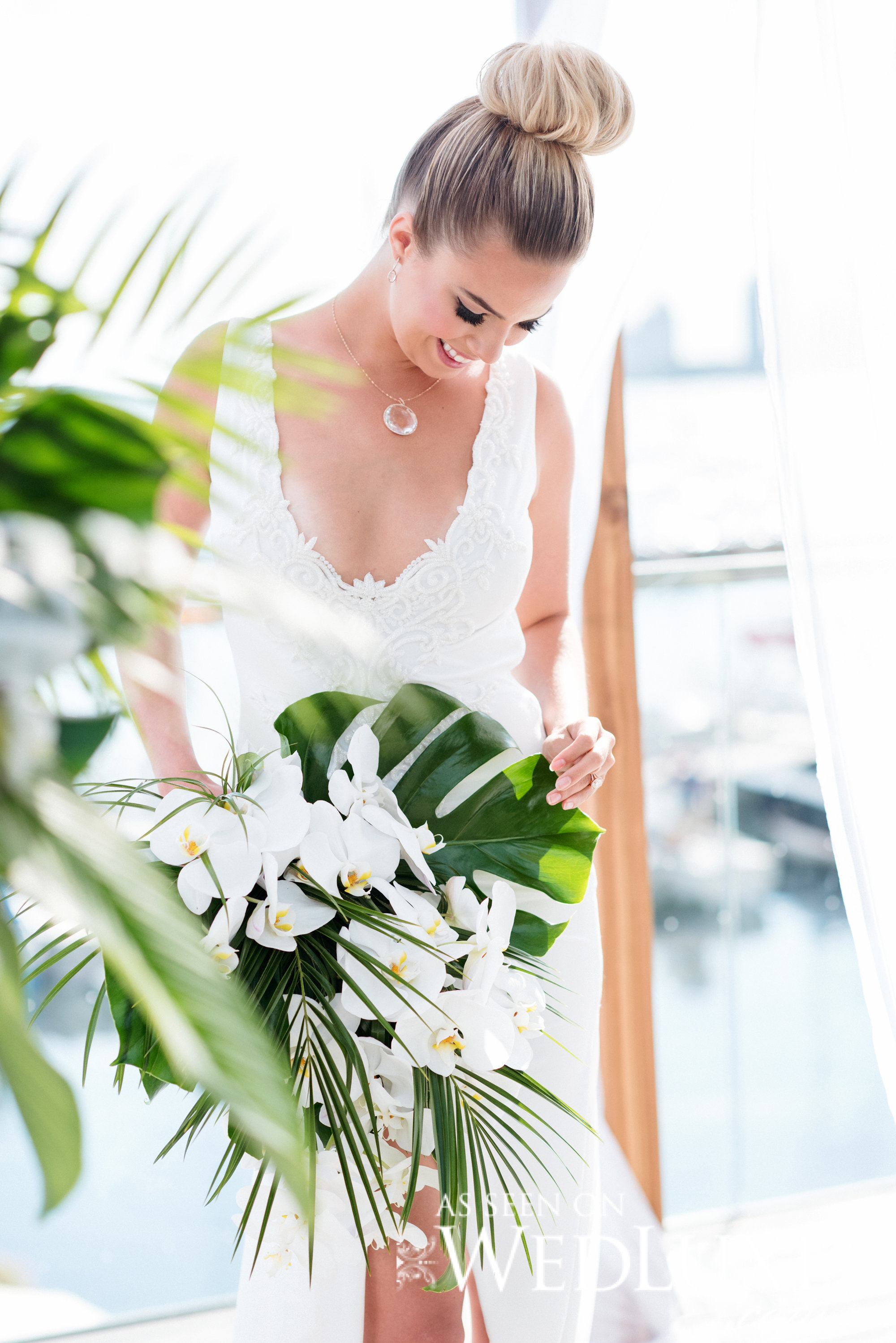 August In Bloom - Wedluxe Palma Dolce Bride with Lily Bouquet - Palma Dolce