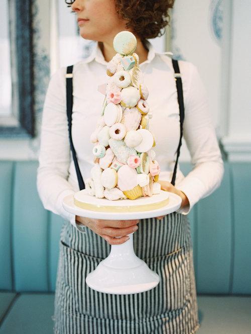 August In Bloom - Mixed Dessert Tower - A Parisienne Brunch Wedding
