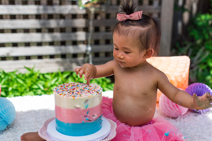 August In Bloom - Cake smash - Ice Cream Birthday Party