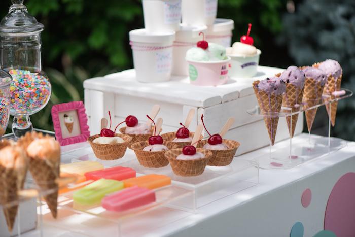 August In Bloom - Ice cream cart - Ice Cream Birthday Party