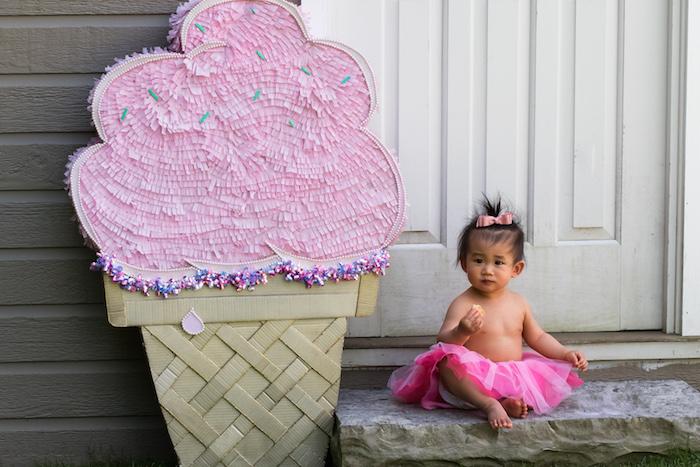 August In Bloom - Ice cream piñata - Ice Cream Birthday Party