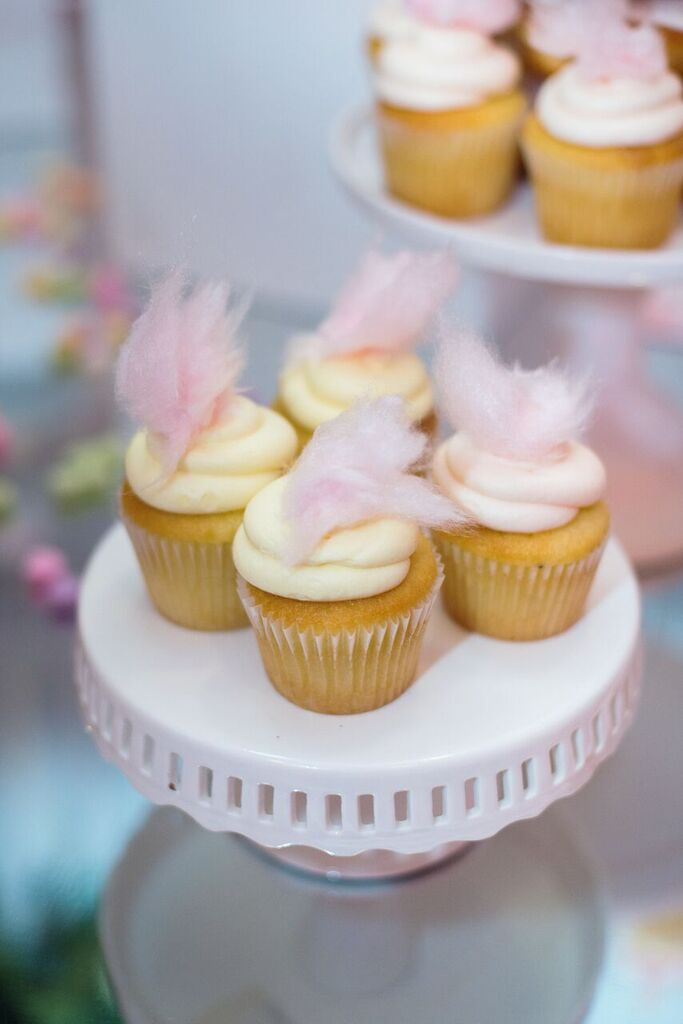 August In Bloom - Cotton candy cupcakes - Fancy Pufs celebrates their first birthday