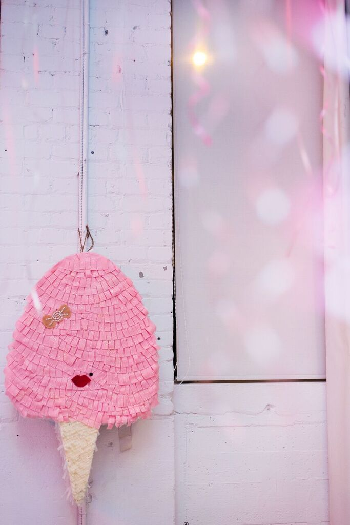August In Bloom - Cotton candy pinata - Fancy Pufs celebrates their first birthday