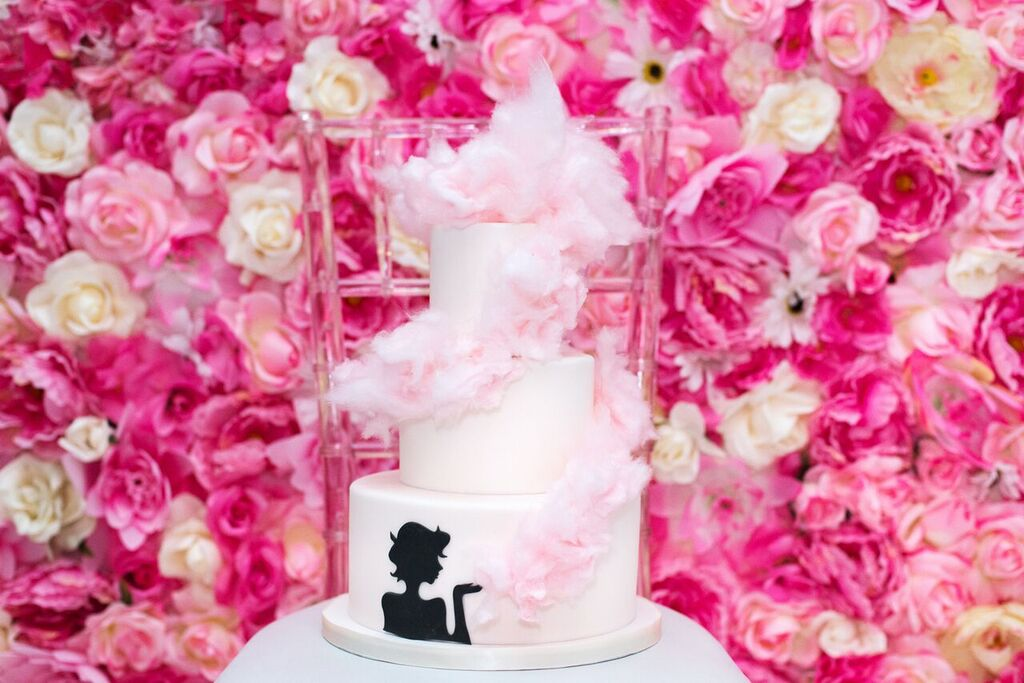 August In Bloom - Cotton candy cake - Fancy Pufs celebrates their first birthday