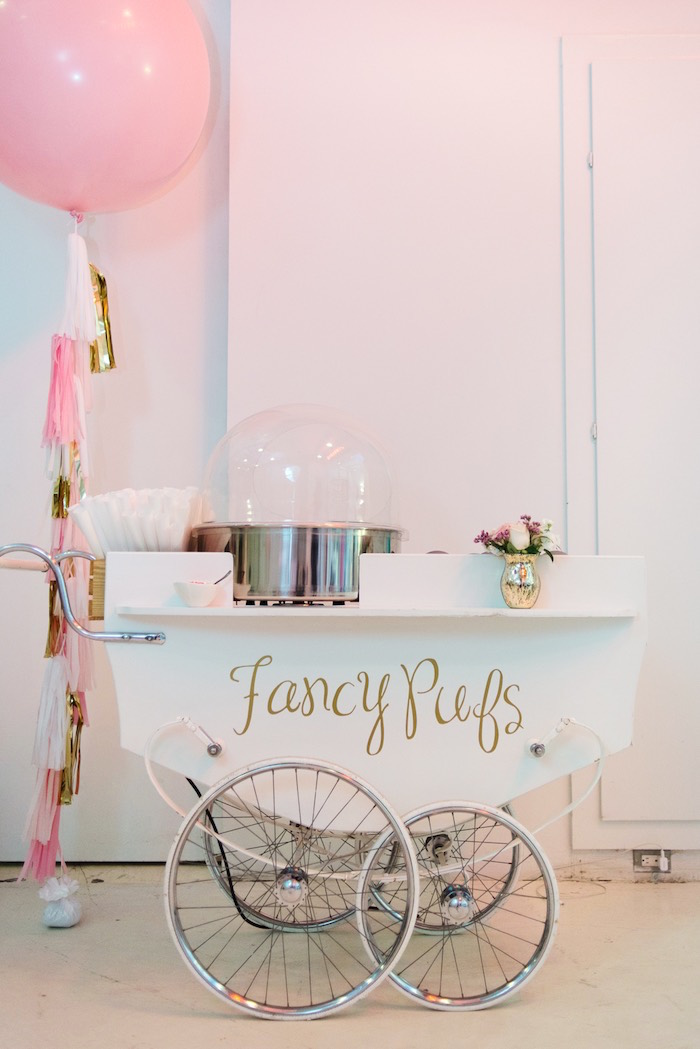 August In Bloom - Cotton candy cart - Fancy Pufs celebrates their first birthday