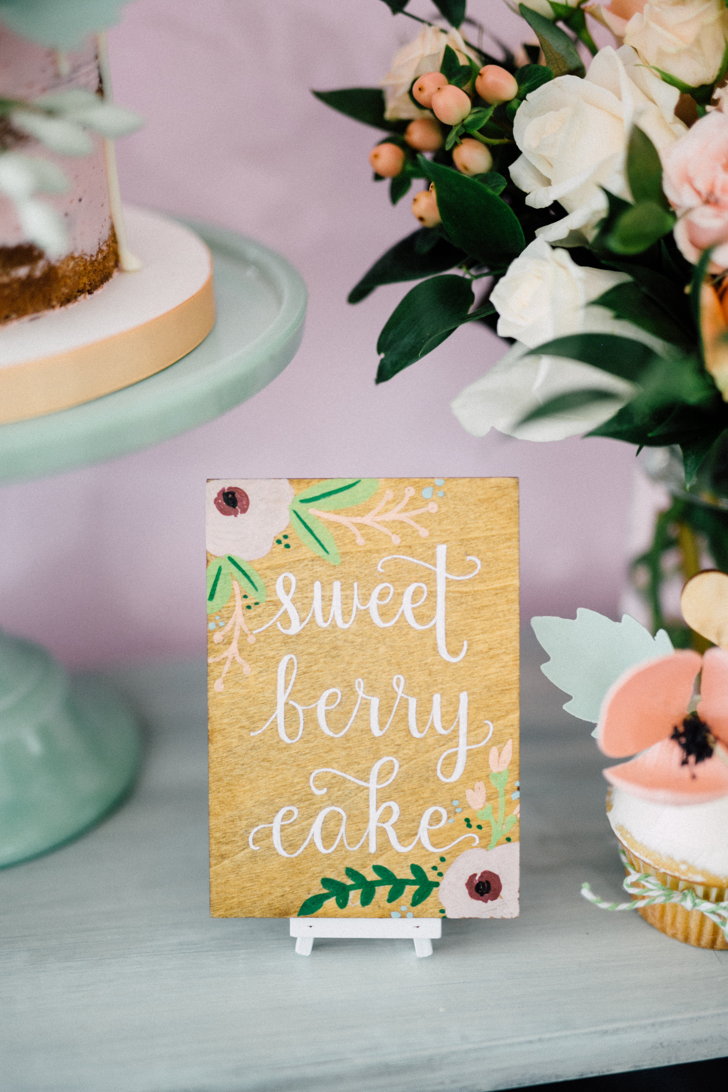 August In Bloom - Sweet table signage - Bun In The Oven Baby Shower (Style Me Pretty & SMP Living)
