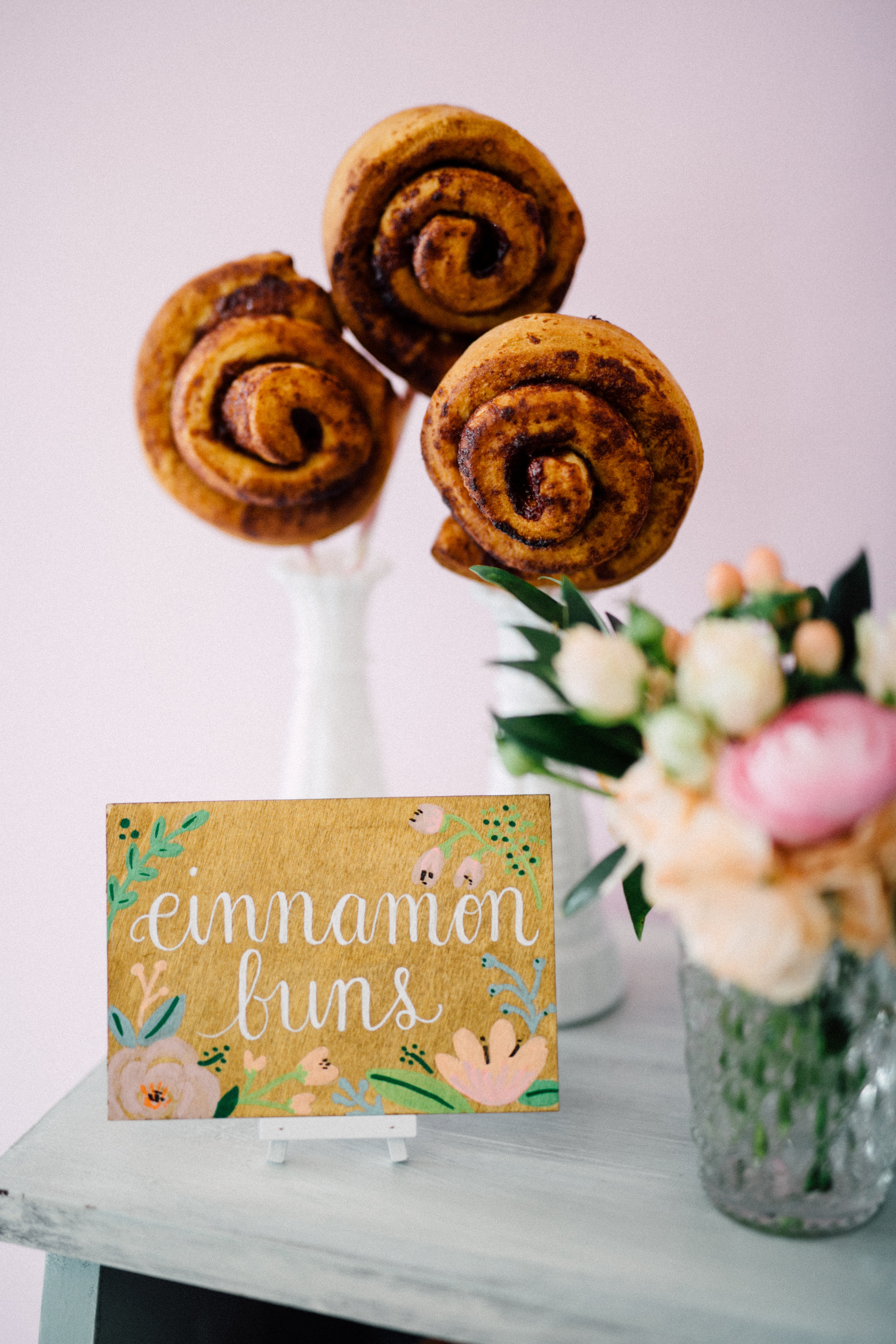 August In Bloom - Cinnamon buns - Bun In The Oven Baby Shower (Style Me Pretty & SMP Living)
