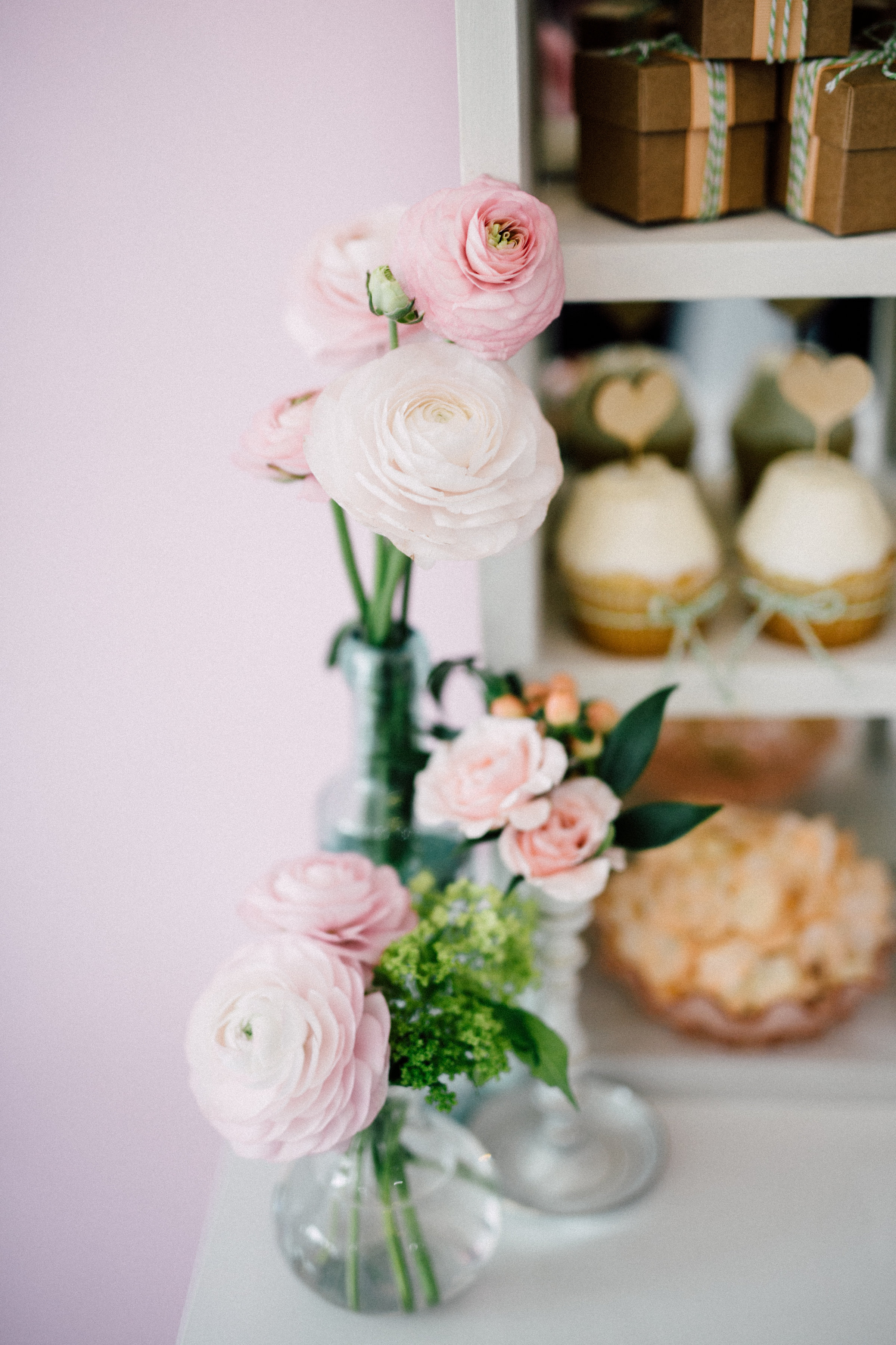 August In Bloom - Bud vases - Bun In The Oven Baby Shower (Style Me Pretty & SMP Living)