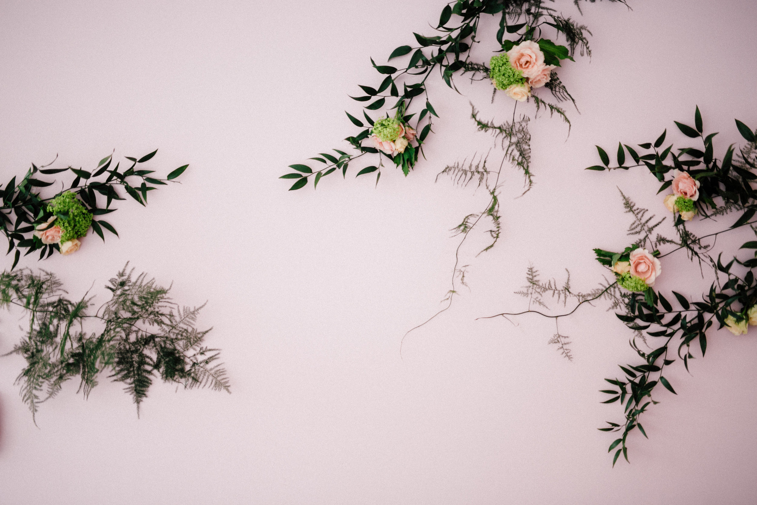 August In Bloom - Vine floral wall - Bun In The Oven Baby Shower (Style Me Pretty & SMP Living)