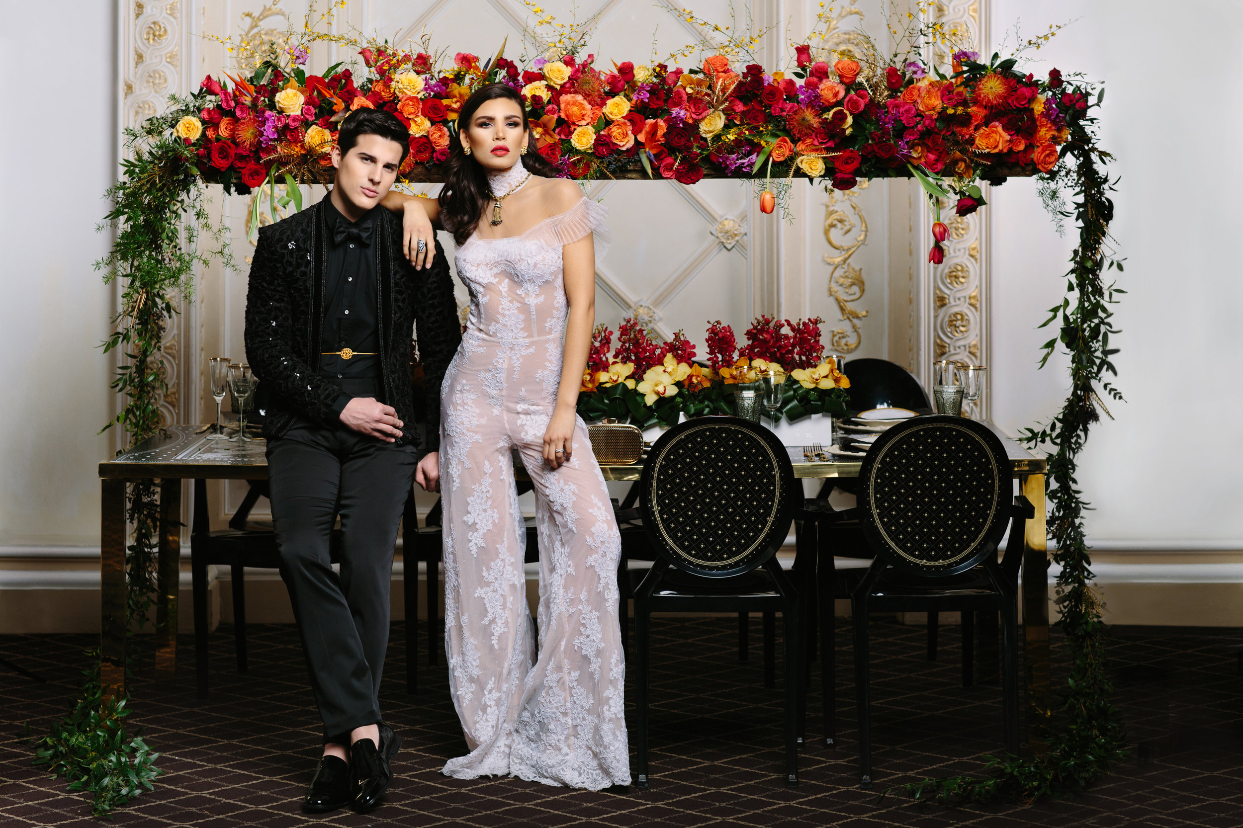 August In Bloom - Couple at reception - Love, Balmain (Wedluxe)